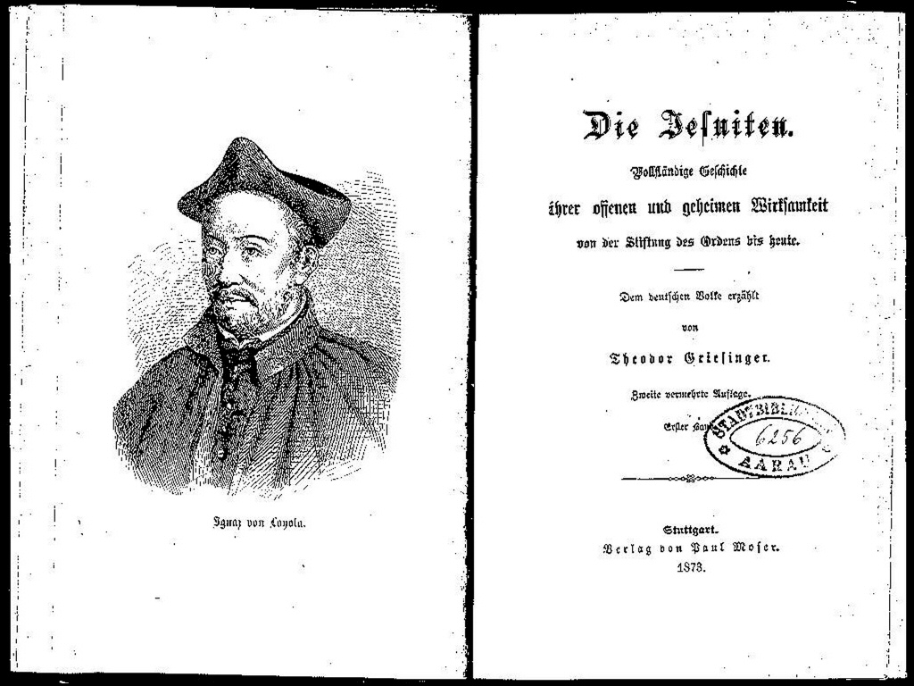 Griesinger Jesuiten 1873 Deutsch I first page