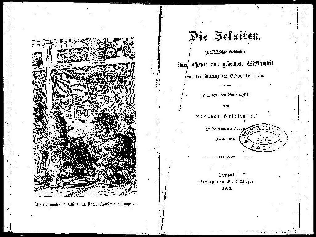 Griesinger Jesuiten 1873 Deutsch II first page